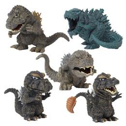 dinossauro de decoração Desconto 5 Estilos / Set Ação Godzilla Figuras boneca brinquedos 10 centímetros PVC Godzilla Dinosaur Brinquedos Crianças Presente Decoração de interiores exibição L409