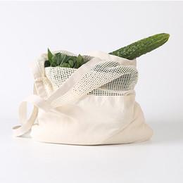 Большие хлопчатобумажные сумки онлайн-Строка Корзина Бакалея сумка Женщина Нового хлопок большая емкость для хранения Tote сетка Чистых Тканые Многоразовые сумки