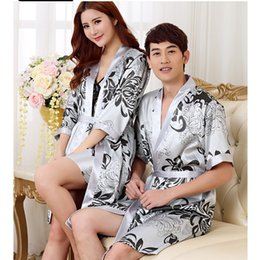 648ef174a484 Sexy pajamas home clothes bathrobes for men robe silk men s Chinese gown  silk pajamas set morning coat dressing gown for man