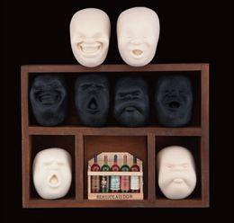 bonecas japonesas humanas Desconto Atacado-4 Face Vent Bola Resina Brinquedo Boneca Rosto Humano CAOMARU Adulto Stress Relievers Japanese Design Anti-stress