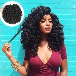 2019 trenzas rizadas afro a granel 18 pulgadas Ombre Marley trenzas Crochet de pelo Afro Kinky Trenzas sintéticas Trenzas de ganchillo Extensiones de pelo A granel Negro Marrón rebajas trenzas rizadas afro a granel