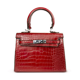 Schloss kuriertaschen online-Damentasche Alligator Taschen Anti-Diebstahl Luxus Handtaschen Hohe Qualität Krokodil Designer Lock Schulter Weiblichen Messenger Frauen Taschen
