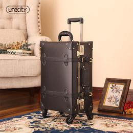 2019 taille valise 2018 valise pour maquillage designer bagages roue spinner fait main en cuir PU cuir geniune PU grande taille haute qualité de roulement promotion taille valise