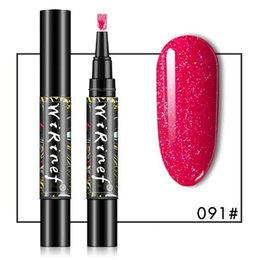 863761a7e5 One Step Nail Gel Polish Pen 3 In 1 Glitter Gel Pencil Nails UV Gel Polish  Varnish Pen Nail Art Manicure 16 Colors