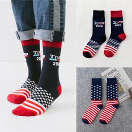 US Trump 2020 Calzino sportivo 4 stili trump USA Flags Pattern Lovers calza Moda tubo flessibile Uomo Donna KJY679 da