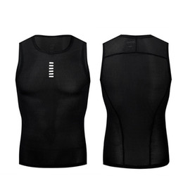 Chaleco para correr Verano Hombre de manga corta para montar camisetas Sin mangas Ropa Negro Blanco Transpirable Secado rápido 48 99xf C1 desde fabricantes
