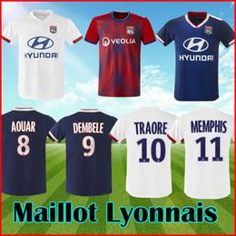 19 20 MEMPHIS Olympique Lyonnais футболка из лиона, третья красная, футболка 2019 года Lyon AOUAR TRAORE OL футболка из лиона из майки Майо де Фут от