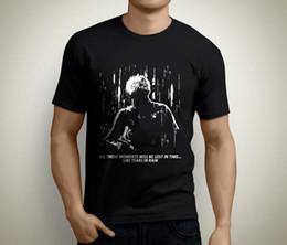 camiseta de chuva Desconto Novo Lâmina Corredor Lágrimas na Chuva T-Shirt Dos Homens de Manga Curta Preto Tamanho S para 5XL