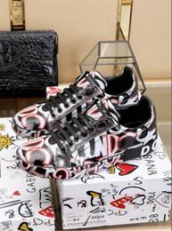 zapatos de la boda de la plataforma de champán Rebajas 2019 Nuevo Llega DOLCE GABBANA D.G SCARPE SNEAKERS UOMO EN PELLE NUOVE PORTOFINO BIANCO Zapatos casuales con estuche original