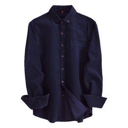 100% Cotton Solid Dark Blue Corduroy Button-down Long Sleeve  Design Men Shirts Autumn Non-iron Smart Casual Men Shirts cheap men s corduroy shirt от Поставщики men s corduroy shirt