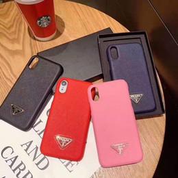caso glitter lg Sconti Cover posteriore per telefono in pelle con griglia colorata per iPhone X Xr Xs Max con custodia morbida per carta di credito per iphone 2019 7 8 Plus