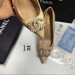 Chaussures en argent à talons hauts en argent en Ligne-HOT 2019 Mode Designer De Luxe Rouge Bas Bottoms Talons Hauts Talon Noir Argent Pompes De Mariage Robe Marque Femmes Chaussures 1088-04