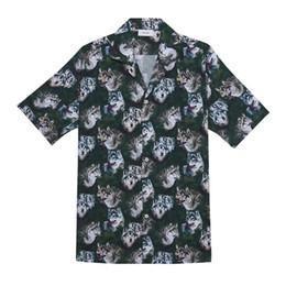 Женская рубашка онлайн-2019 RHUDE Truck Stop Shirt Футболка с волчьей головкой Мужчины Женщины 1a: 1 Цифровой прямой впрыск RHUDE Top Tees Пляжная футболка RHUDE
