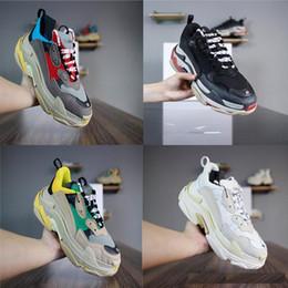 Argentina 2019 Multi Lujo Triple S Diseñador Low New Zapatillas de deporte de la llegada de la zapatilla de deporte de la combinación de las botas de los hombres para mujer Zapatillas de deporte de calidad superior Calzado casual Suministro