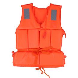 Vestito di protezione per adulti online-2 pzuniversal bambini adulto giubbotto di salvataggio nuoto barca spiaggia di sopravvivenza all'aperto emergenza aid sicurezza giacca per kid con fischietto C19041201