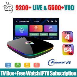 Premium-tv online-IPTV Box Android App Abonnement Iptv USA UK Deutsch Französisch Spanisch Australien Mediaset Premium mit Android 9.0 TV Box Q-plus 4G 64G