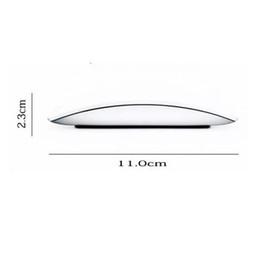 2019 el ratón inalámbrico más delgado USB Bluetooth Mouse Ultra delgado 2.4G Mini mouse inalámbrico Touch Magic Mouse Receiver para Apple y otros con caja al por menor rebajas el ratón inalámbrico más delgado