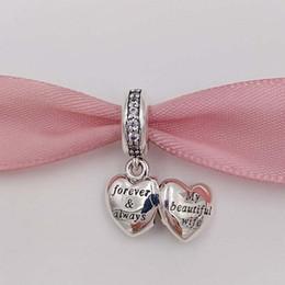 2019 encantos de brillo Envío gratis Valentine s Day granos de la plata esterlina 925 mi bella esposa Charm Se adapta a pulseras de la joyería de estilo europeo de Pandora