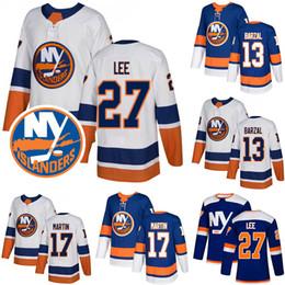 Deutschland 2018-2019 Günstige New York 13 Mathew Barzal Islanders Hockey Trikots 17 Matt Martin 27 Anders Lee Genähtes Trikot Versorgung