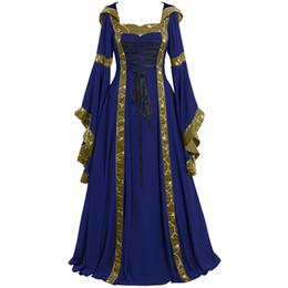 Plus Size Summer Dress Women 2019 Vintage Celtic Medieval Floor Length  Renaissance Gothic Cosplay Dress Women robe femme