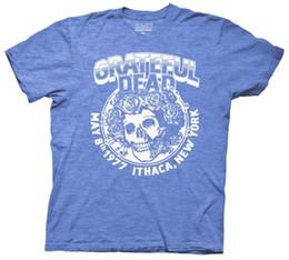 rocher mort reconnaissant Promotion Reconnaissant la mort Ithaca New York 1977 Tour Rock Jam Adult T Shirt Hommes Femmes Mode Unisexe tshirt Livraison gratuite noir