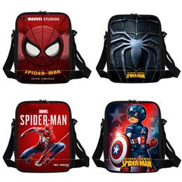 Sacchetti di stoccaggio di libri online-Cartoon Anime Lunch Bag Back To School Studente Isolamento Picnic Lunch Bag Allievi Zipper Square Storage Book Bag Nove colori