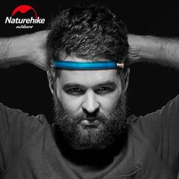 vendas al por mayor del entrenamiento Rebajas Naturehike Deporte Banda de baloncesto Banda de sudor antideslizante Yoga Mne de silicona Rizo Banda para el cabello Correr Fitness Head Sweat Band # 72220