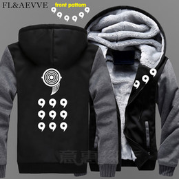 naruto uzumaki jacket Coupons - FL&AEVVE New Uzumaki Naruto Hoodie Anime Uchiha Sasuke Coat Jacket Winter Men Thick Zipper Ootutuki Hagoromo Sweatshirt