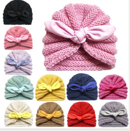 bonés do bebé chapéus Desconto Malha inverno chapéu do bebê para meninas Cap Candy Baby Cor Bonnet Enfant Beanie Baby Turban Chapéus recém-nascido for Boys Acessórios
