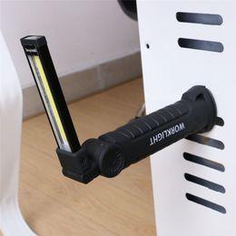 luci rosse ems Sconti Portatile 5 modalità COB torcia flashlight USB ricaricabile LED lavoro luce lanterna magnetico appeso lampada gancio campeggio esterna auto LED lavoro luce