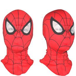 2019 maschera completa di spiderman Maschere di Halloween per adulti Spider-Man Spider Man Head Maschera Spiderman Hood per regali di compleanno e Natale sconti maschera completa di spiderman
