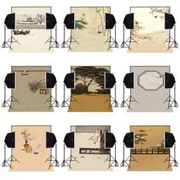 Giardino disegni fotografie online-Disegno di fabbrica personalizzato 5X7FT casa giardino sfondo foto per la fotografia tende in vinile fondali studio comunion decoracion per la festa