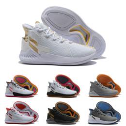 2019 scarpe di stelle in aumento Il più nuovo perfetto Mens D Rose 9 scarpe da basket per alta qualità a buon mercato All Star Nero bianco moda Sneakers di lusso Consegna veloce Size40-46 scarpe di stelle in aumento economici