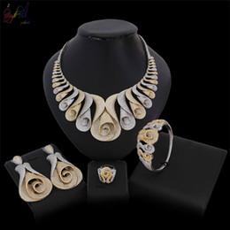 afrikanische amerikanische kostüme Rabatt Yulaili Top Qualität Luxus Atmosphäre Frauen Halskette Ohrringe Armband Ring Afrikanischen Kostüm Amerikanischen Zirkon Stein Hochzeit Schmuck Sets