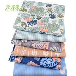 Chainho, 6pcs / lot, Monstera, tessuto di cotone twill stampato, tessuto patchwork, cucito fai da teQuarting Fat Quarters Materiale per BabyChild da
