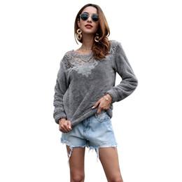 2019 chándal de cachemira de las mujeres Traje vestido nuevo producto 2019 otoño e invierno abrigo suelto Cashmere moda suéter chándal mujer suéter mujer 3d camiseta envío gratis chándal de cachemira de las mujeres baratos