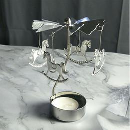 2020 luci del tè del cuore Rotazione Spinning Holder luce del tè di candela Carosello di Natale Capodanno regalo di natale nozze favori Stella Angel Heart Elk 16 del modello sconti luci del tè del cuore