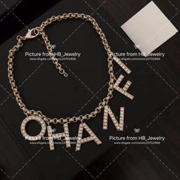 2019 kupfer-namensschilder Beliebte modemarke brief Halsreifen Halskette für dame Design Frauen Party Hochzeit Liebhaber freundin geschenk Luxus Schmuck für Braut Mit BOX.