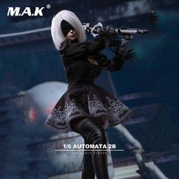 scale sexy figure Promo Codes - 1 6 Scale Sexy Clothes Set TF01 1 6 NieR:Automata A2 Female Girl Head Carved with Clothes Set for 12'' Female Figure Body