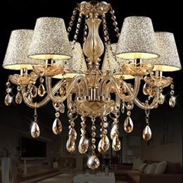 Lámparas de brazo online-2019 caliente Lustre para sala de lujo de estilo europeo de la lámpara 6 armas Diámetro 58cm la sala de estar de la lámpara lujo lustre párrafo cuarto