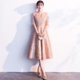 Élégant Or Paillettes Asiatiques Cheongsam Robe Courte Vestidos Chinos Oriental Qipao Robes De Soirée Robe De Fête Classique Taille XS-3XL ? partir de fabricateur