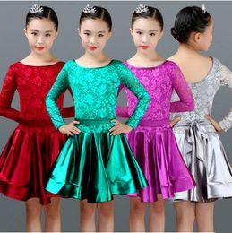 524919645708 latin dance dress for girls ballroom competition lace latin salsa dress  kids girl rumba samba spandex children 2018 tango skirt ballroom dancing  dresses for ...