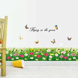 2019 carta da parati del fiore per la stanza dei bambini Mazzi di fiori Adesivi murali Carta da parati rimovibile Decorativi per bambini In camera da letto Soggiorno Art Decal Sticker murale per Room Girls Adesivo sconti carta da parati del fiore per la stanza dei bambini