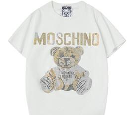 2019 Luxe Nouveau Mode Hommes Designer t-shirt Vêtements Hip Hop Cartoon Ours T-shirt Hommes Et Femmes T-shirt Casual Coton O Cou Tee ? partir de fabricateur