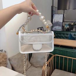 Bolsas de moda clara on-line-Bolsas de grife sacos de designer de pérola transparente bolsa de PVC transparente bolsa de ombro bolsa de corpo cruz bolsas de moda