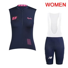 sleeveless women cycling jersey Coupons - New Team EF Education First Women Cycling jersey High Quality Summer Sleeveless Bike Shirt Bib shorts set Quick dry Bicycle Clothing Y062801