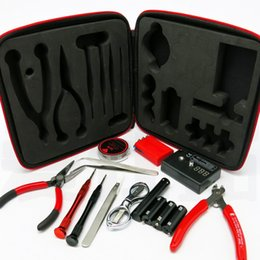 medidor de ohmios para vape Rebajas Vape DIY Kit de accesorios de herramientas V2 para RDA RTA Atomizador Building Coil Jig Bag Set Ohm Resistencia Medidor E Cigarrillos Kits de accesorios