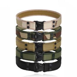 Cinturón deportivo de 2 pulgadas Cinturón de lona de combate táctico ajustable con hebilla de plástico al aire libre Ejército militar gancho Loop cintura # 262038 desde fabricantes