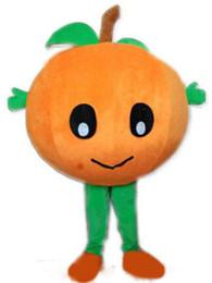 Hochwertige obstkostüme online-Halloween Big Baby Orange Maskottchen Kostüm Hohe Qualität Mandarine Obst Cartoon Anime Thema Charakter Weihnachten Karneval Party Fancy Costumes