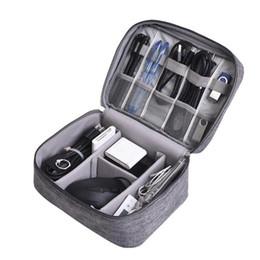 portafoglio sentito telefono Sconti Borsa da viaggio per dati Borsa portatile digitale USB Gadget Organizer Caricabatterie Wired Imballaggio cosmetico con cerniera